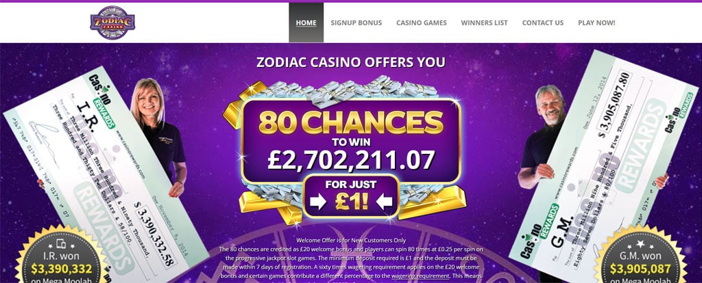 Zodiac Casino Fake